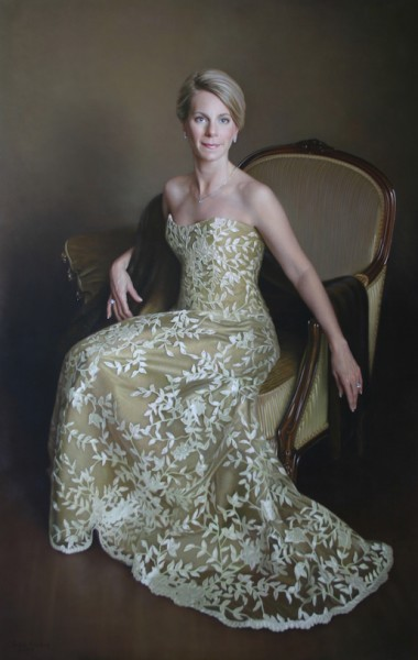 Carolyn Oil on linen, 72 x 46 inches