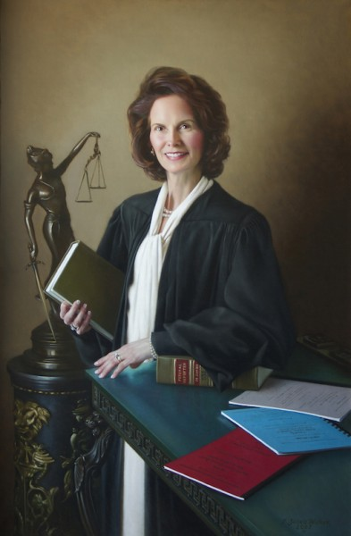 The Hon. Karen Williams Chief Judge - Fourth Circuit Federal Appellate Court Oil on linen, 54 x 36 inches