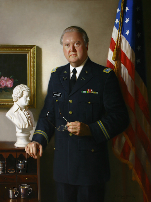 Thomas W. Warlick Colonel, ASAR Oil on linen, 56 x 42 inches