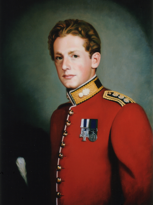 Captain Richard Westmacott Grenadier Guards Sandhurst Military College Oil on linen, 32 x 24 inches
