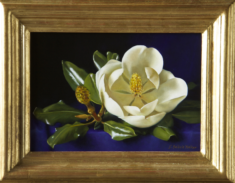 Blue Velvet #2     Carolina Magnolia Series     Oil on linen, 10 x 14 inches     SOLD