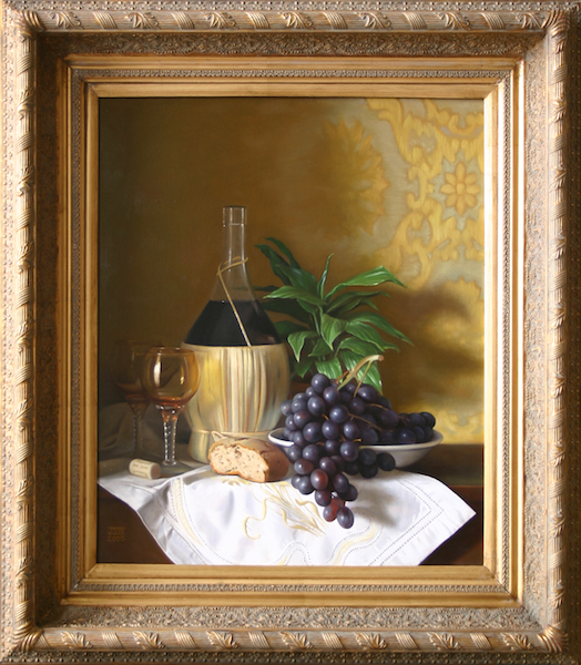 Chianti e Uva  Oil on linen, 24 x 20 inches  SOLD