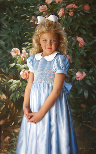 Emily  Oil on linen, 38 x 24 inches