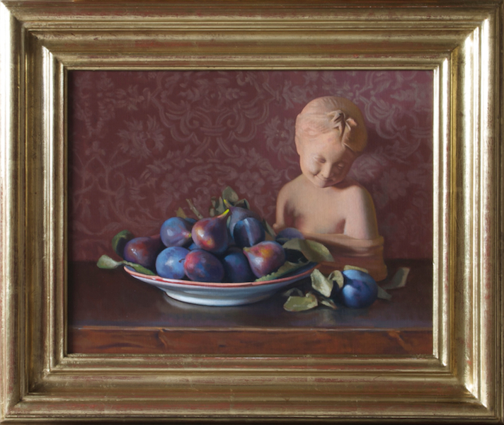 Figs and Plums Oil on linen, 14 x 18 inches