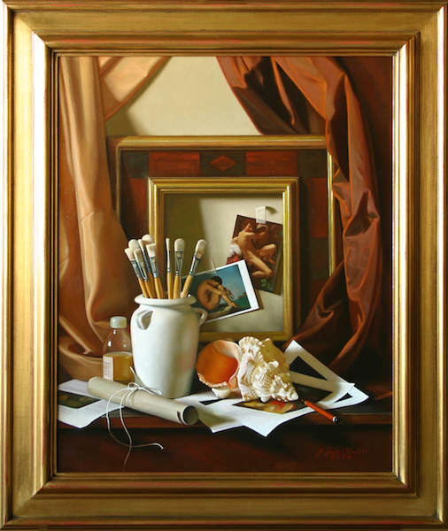 Inspirations in the Lucca Studio Oil on linen, 31 ½ x 25 ¾ inches SOLD