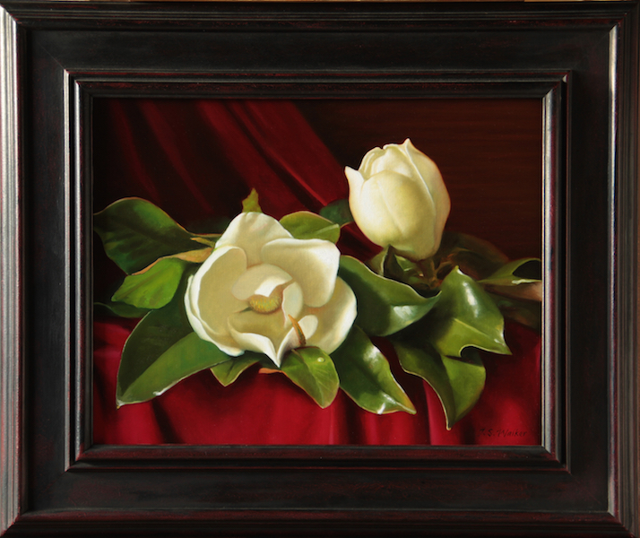 Red Velvet #2 Carolina Magnolia Series Oil on panel, 14 x 18 inches SOLD