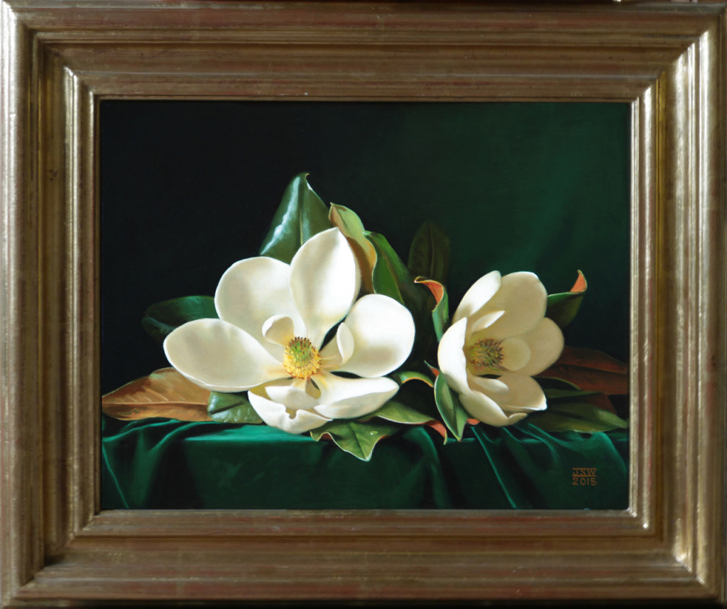 Green Velvet #1 Carolina Magnolia Series Oil on panel, 14 x 18 inches SOLD