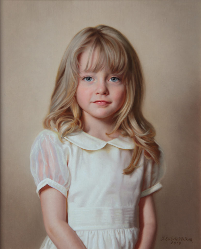 Cate Oil on linen, 22 x 18 inches
