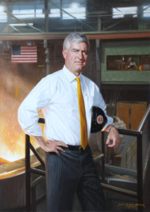 Roddey Dowd, Jr. CEO Charlotte Pipe and Foundry Company Oil on linen, 42 x 30 inches Further Information