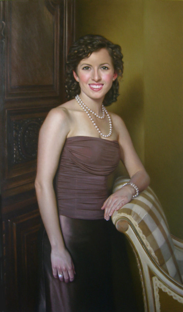 Annie Oil on linen, 45 x 26 inches