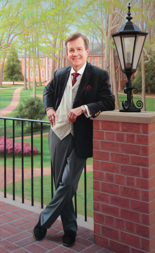 "Kent Chabotar President of Guilford College Oil on linen, 62 x 38 inches  <a href=""http://johnseibelswalker.com/kent-john-chabotar"">Further Information</a>"