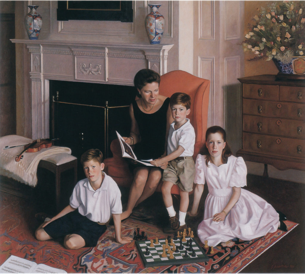 The Family Von Kuhn Oil on linen, 46 x 52 inches
