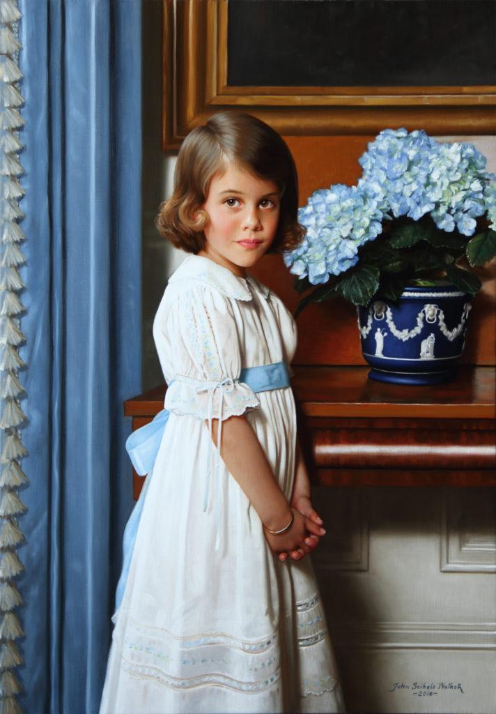 "Margaret Oil on linen, 40 x 28 inches <a href=""http://johnseibelswalker.com/awards"">Award</a>"