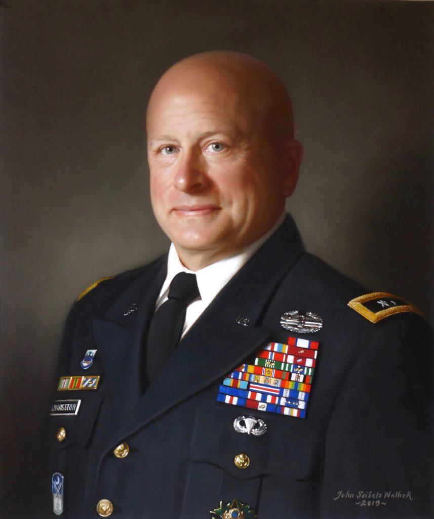 MG Robert E. Livingston,Jr. The Adjutant General, South Carolina Oil on linen, 24 x 20 inches
