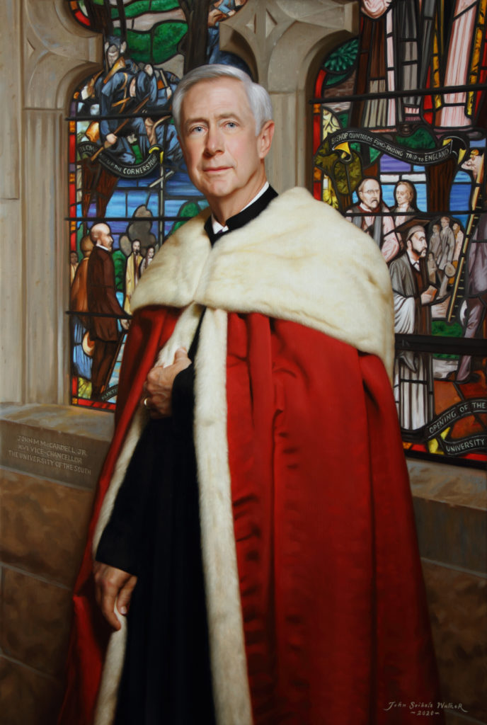 "John M. McCardell, Jr., XVI Vice-Chancellor, The University of the South Oil on linen, 53 x 36 inches  <a href=""http://johnseibelswalker.com/awards"">Award</a> <a href=""http://johnseibelswalker.com/john-m-mccardell-jr"" >Further Information</a>"